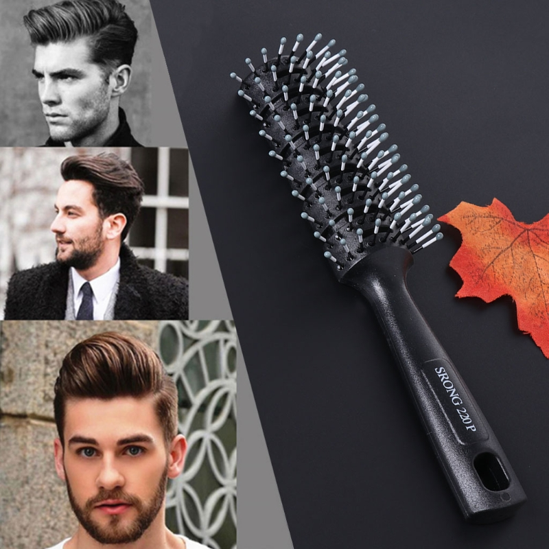 Fashion Men Hair Brush Plastic Antistatic Comb Barber Dressing Salon Styling New 1PC