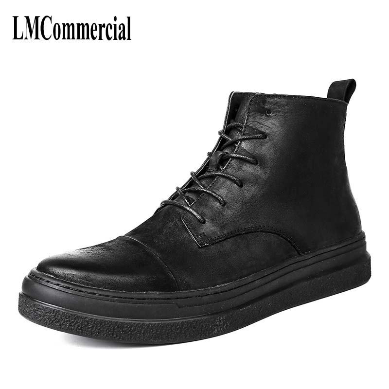 Martin shoes, male Korean version, British boots, men's Retro European and American short shoes, high boots, men's leather boots