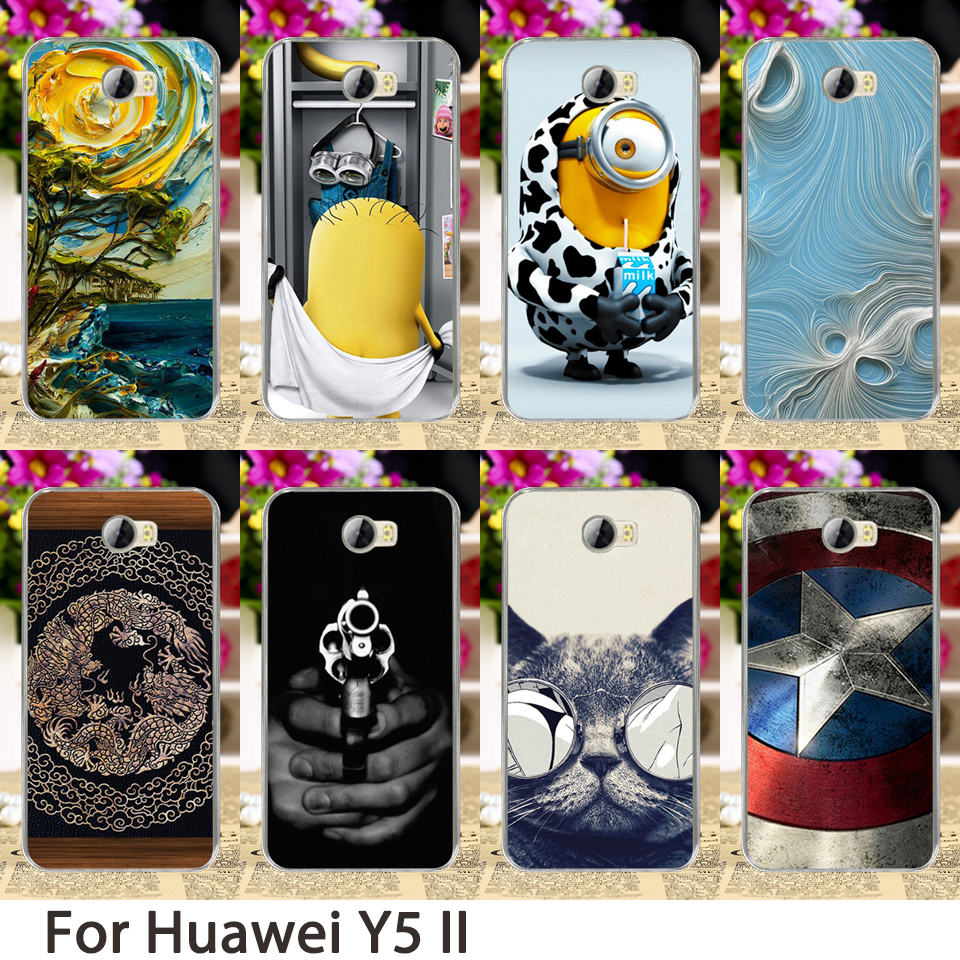 Soft phone case para huawei y5 ii y6 ii compact y6 ii mini cun-u29 honor 5a lyo-