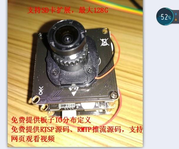 Hi3519v101 Hi3519 Development Panel Camera IMX274 RTSP RTMP Push Flow