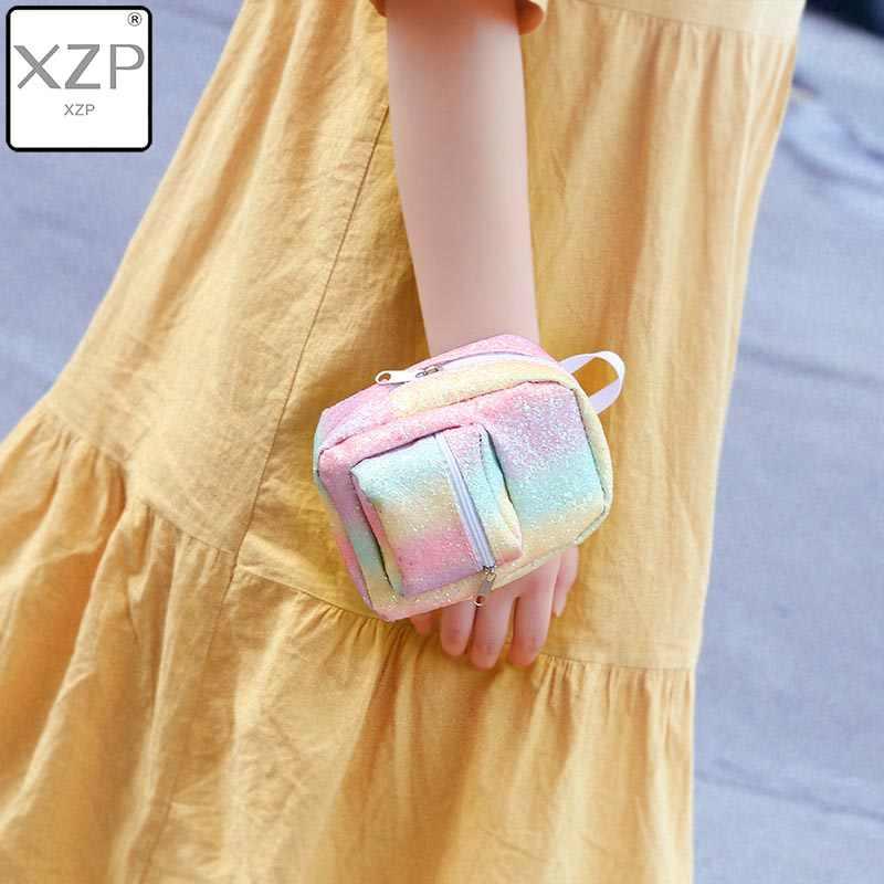 Xzp ミニコイン手首の財布女性のためのスパンコールグリッターバックパック財布デザイナー女の子バックパックかわいいかわいい bagpack