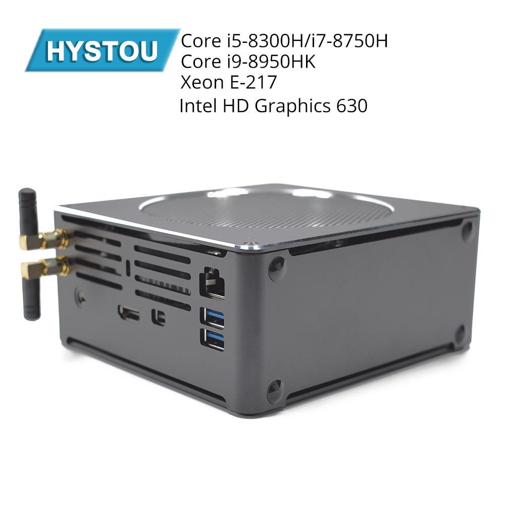 Hystou Gaming Computer Intel I9 8950HK I5 8300H I5 6585R Nuc Mini PC Windows 10 Pro HDMI MINI TV BOX компьютер пк