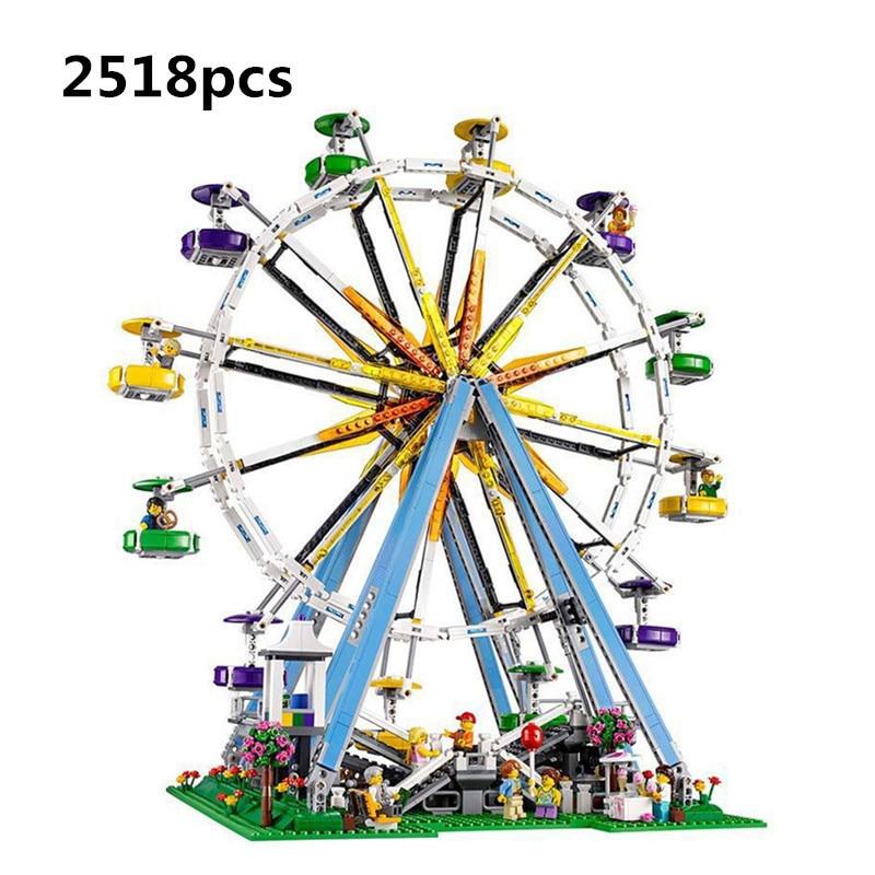 LEPIN 15012 2518Pcs City Expert Ferris Wheel Model Building Kits Blocks Bricks Toys Compatible with LegoINGlys 10247 Favourite