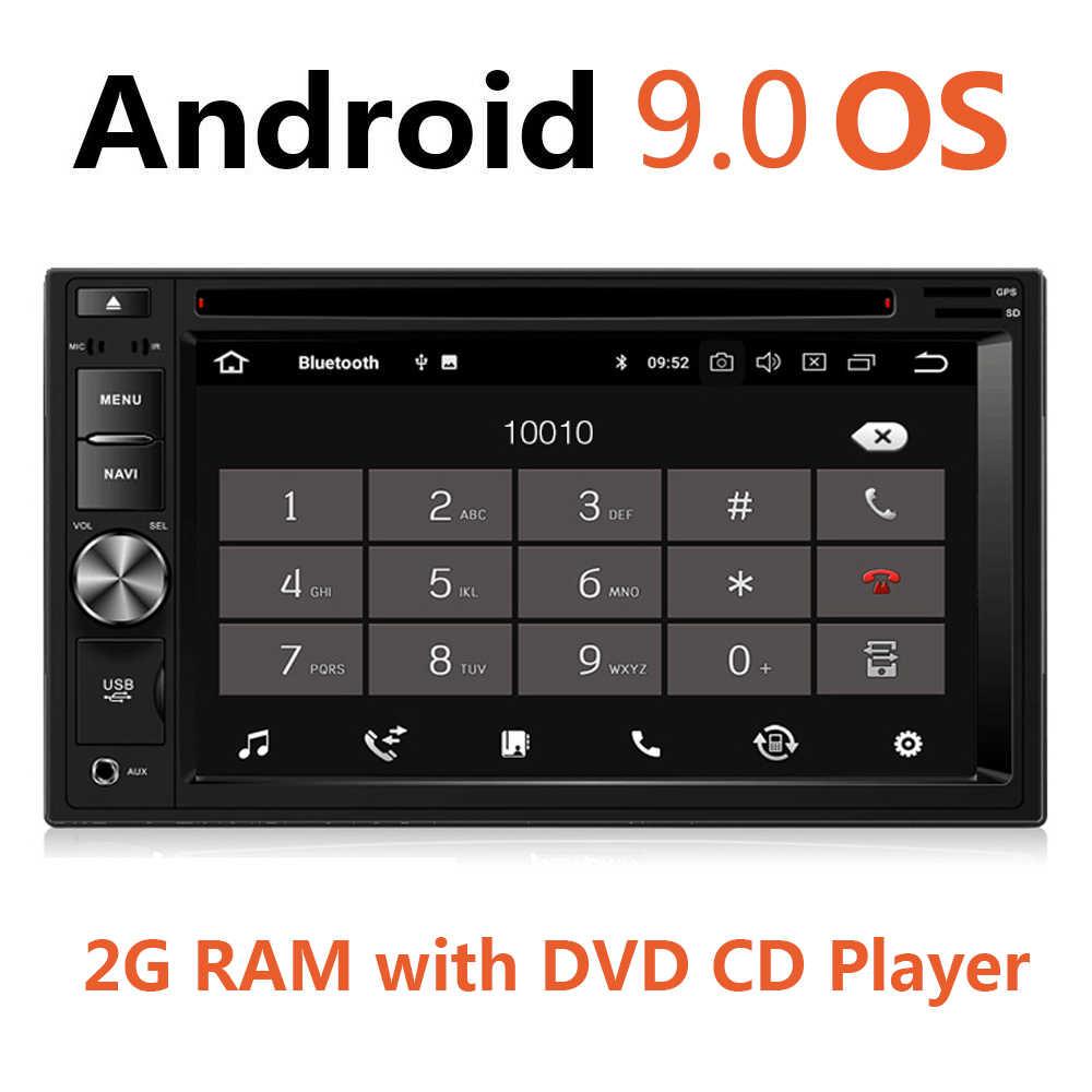 """ユニバーサル 6.2 """"アンドロイド 9.0 2Din 車ラジオ 2 グラム RAM Autoradio DVD CD MP5 ビデオプレーヤー GPS ステレオ 4 3g Wifi 2 ダブル Din Usb 45"""