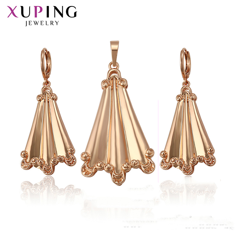 Xuping Gold Color Plated Exquisite Jewelry Sets for Women Elegant African Style Essentia Delicate Gifts S200.6-65345