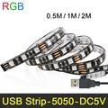 Highlight RGB LED Strip Light DC5V 5050 IP65 TV Background Lighting Waterproof USB Cable backlight strip DIY Decoration Lamp