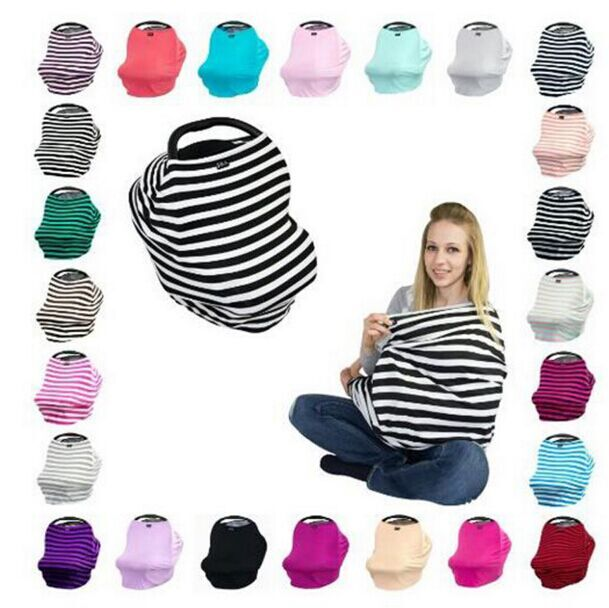 Pre Order Wholesale 3 In 1 Infant Baby Car Seat Cover Rayon Nursing Canopy Stripe Shopping Cart Covers From