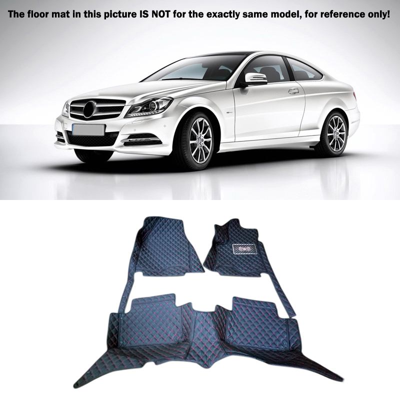 For Benz C Series W204 2008-2013 C Series W205 2014 2015 Interior Leather Floor Mats & Carpets 1set Left right hand drive пила циркулярная makita dcs551z