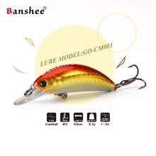 Banshee 65mm 10g  Floating GO-CM003 Trout Perch Fishing Lurec Wobbler Shallow Diving Crankbaits