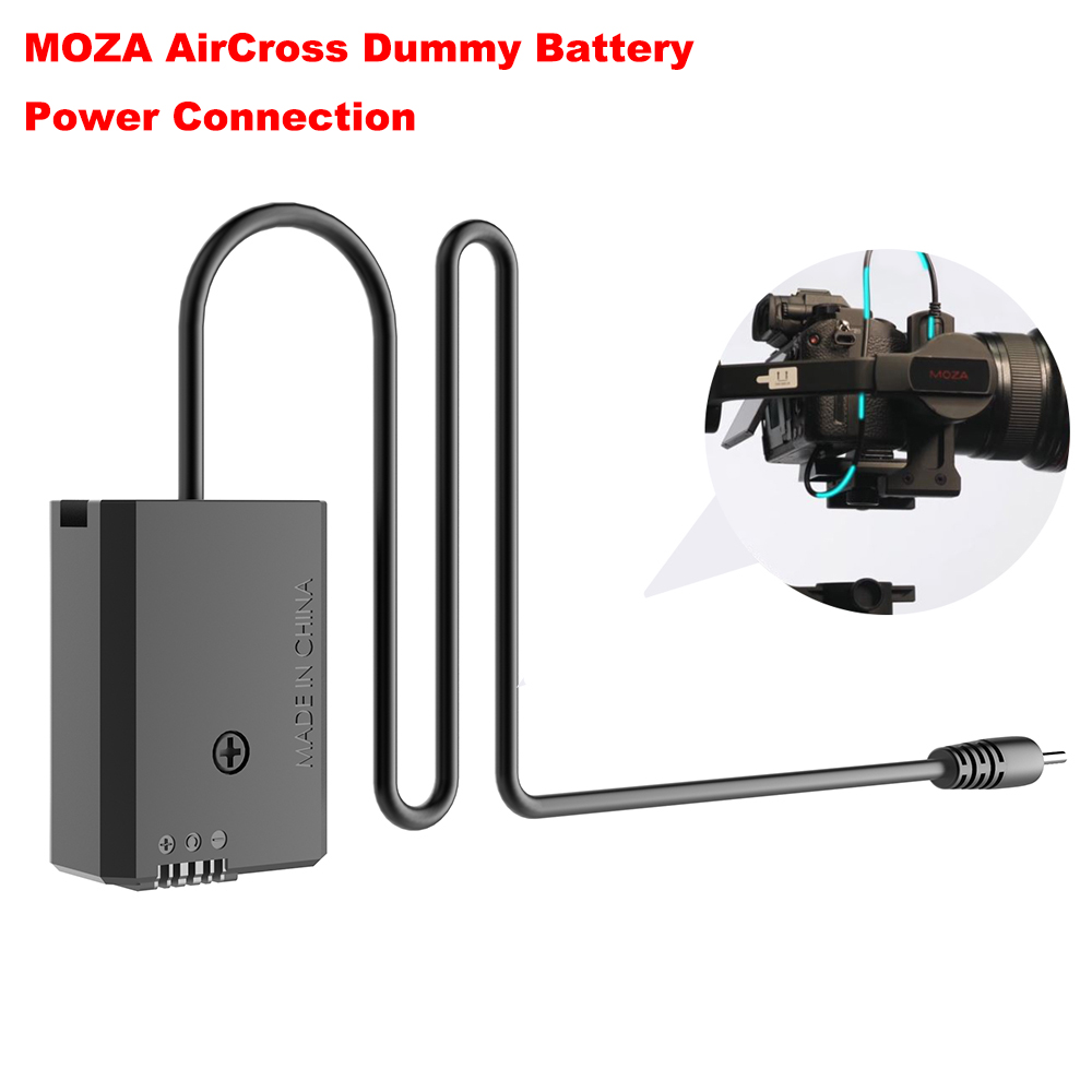 MOZA AirCross Dummy Battery DC Adapter Power Connection for Sony (Black Color) A7 or for Panasonic (Grey Color) GH4 GH5 Camera