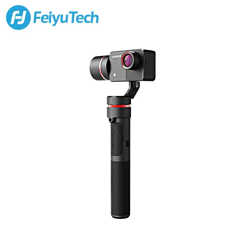 FeiyuTech Convoquer Plus 3-Axe Poignée Cardan Brushless Caméra Stabilisateur avec 4 k 1080 p Action Cam 16 Mega pixels 2.0 pouce Affichage