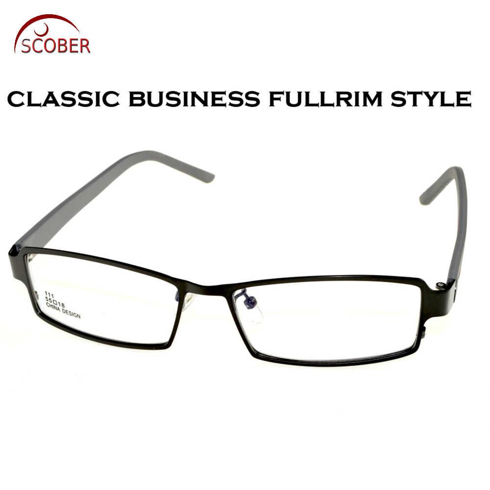 4d0003068d5 Full-rim Rectangle Light Eye Frame Titanium Alloy Custom Made Optical  Myopia Reading Glasses Photochromic