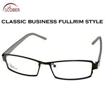 Full-rim Rectangle Light Eye Frame Titanium Alloy Custom Made Optical Myopia Reading Glasses Photochromic Progressive multifocal