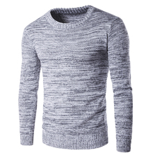 New 2018 Men's Knitting Pullovers Sweater Casual Long Sleeve O-Neck Sweater Wool Slim Plus Size Gray Men Pullovers Sweater 2XL