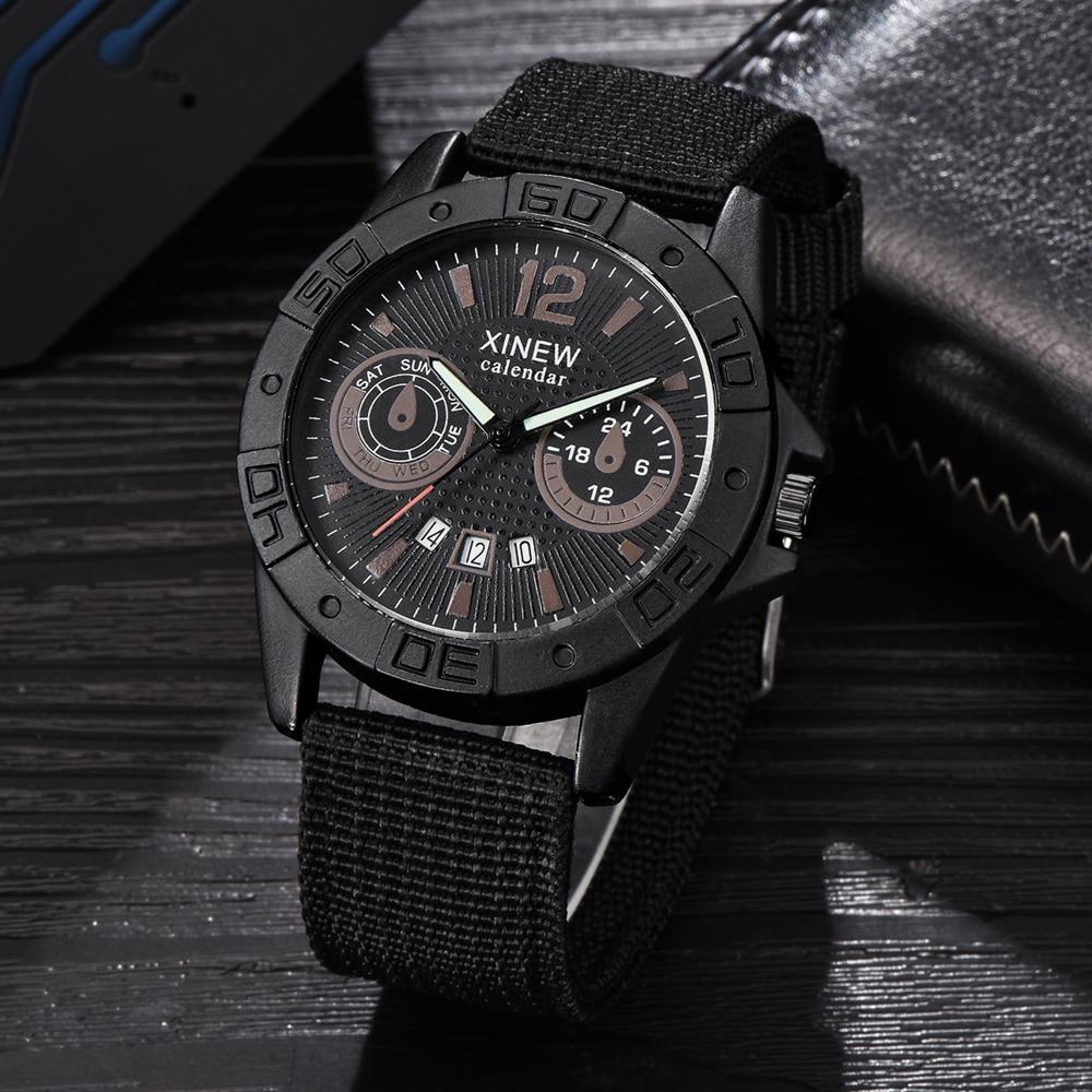 Wholesale Cheap Watches Mens Nylon Band Date Quartz Wrist Watch Men Sports Military Gifts Clock Erkek Barato Saat Montre Homme цена 2017