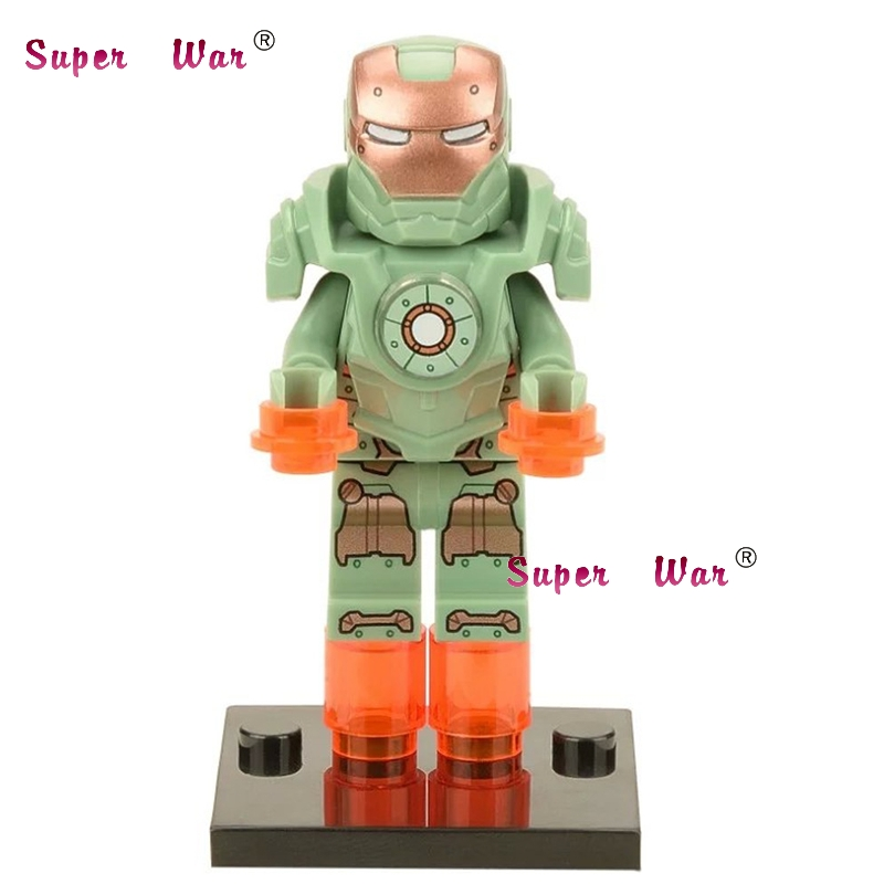 20pcs star wars superhero marvel Hammerhead MK37 Iron Man building blocks action figure bricks model educational diy baby toys