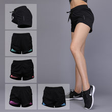 3b793b2c46 OLOEY Elastic webbing Sports Yoga Shorts Women's Breathable Quick Dry  Fitness Running Shorts Double Layer Workout