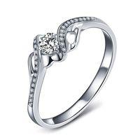 Medboo белого золота с бриллиантами Обручение кольцо для Для женщин Юбилей стерлингового серебра Властелин колец алмазов картина сертификат