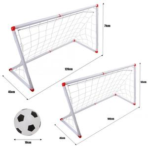 Image 5 - 106/120cm Indoor Outdoor Mini Children Football Soccer Goal Post Net Set with Ball Pump Kids Football Sport Toy Official Size