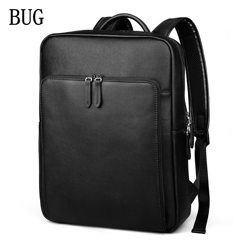 все цены на BUG Genuine Leather New Fashion Men Luxury Male Bag High Quality Waterproof Laptop Messenger Travel Backpack WOMEN School Bag