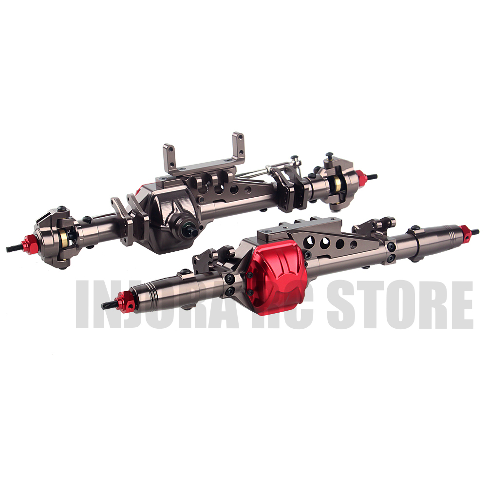 Metal RC Car Front/Rear Axle for 1/10 RC Rock Crawler Axial WRAITH 90018 90020 90045 RR10 90048 90053 RC Parts