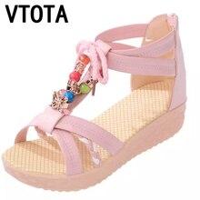 VTOTA Estilo Bohemio Zapatos de Verano Sandalias de Las Mujeres zapatos de mujer de Moda de Verano Para Mujer Zapatos de Tacón Bajo Sandalias Planas Señoras X332