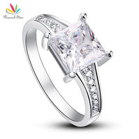Drop Shipping Free 1 5 Carat Princes Cut CZ Simulated Diamond 925 Sterling Silver Wedding Engagement