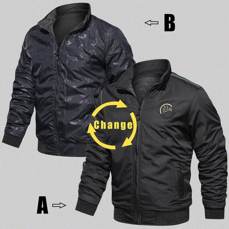 HTB1MyaQXrj1gK0jSZFOq6A7GpXag LBL Casual Bomber Jacket Men Slim Fit Autumn Winter Double Side Mens Military Jackets Outwear Coat Man Sportswear Tracksuit 2019