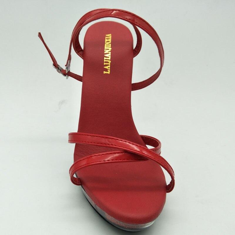 Chaussures Nouvelle Hauts Rouge Mince Laijianjinxia Partie Femmes Sandales Boucle Sexy Talons 13 Femme Cm Sangle Mode Danse RpxzwqdF1
