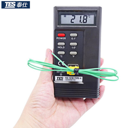 Professional TES1310 Digital Thermometer Meter High precision K type thermocouple contact thermometer with probe free shipping mc 7806 digital moisture analyzer price with pin type cotton paper building tobacco moisture meter