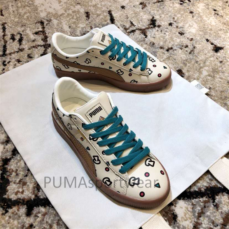 New Arrival PUMA X TYAKASHA Clyde Food Life Women s Breathable Sneakers  Badminton Shoes Size35 39-in Badminton Shoes from Sports   Entertainment on  ... 09f317581