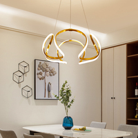 Minimalism Modern Led Hanging Pendant Lights For Dining Room Kitchen Room White Color Aluminum Pendant Lamp