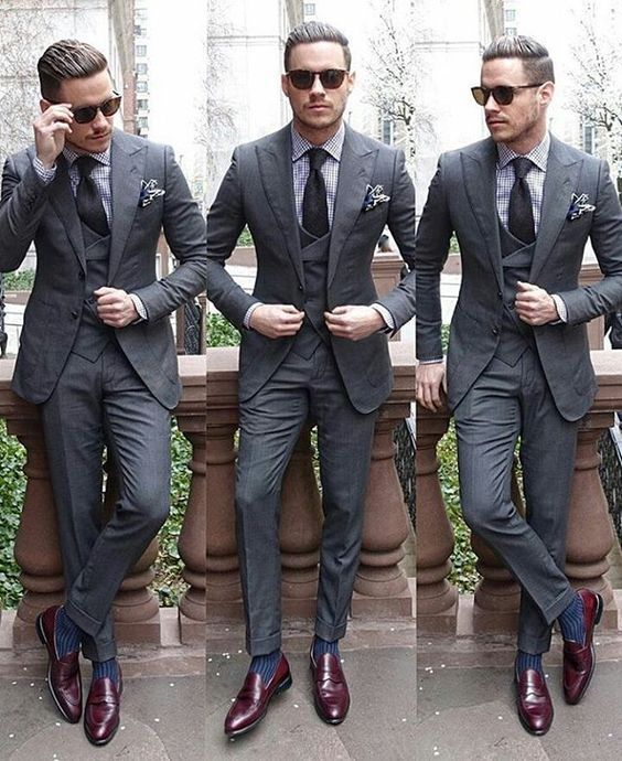 latest coat pant designs grey wedding suit for men simple