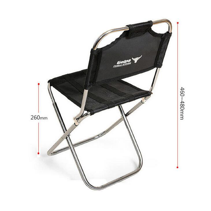 Image 3 - Light Outdoor Fishing Chair by Strong Aluminum Alloy Nylon Camouflage Folding Small Size Chair Camping Hiking Chair Seat Stool-in Fishing Chairs from Sports & Entertainment