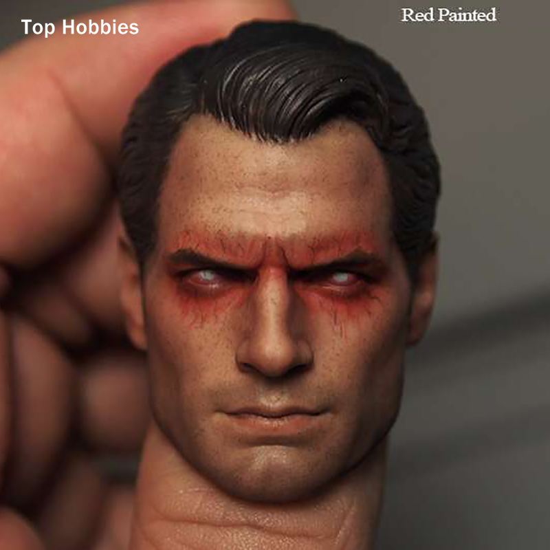 Scale 1:6 Superman War Batman Henry Cavill Head Sculpt Red Eyes Version For 12Phicen Action Figures Of The Male Body Doll Toy 1 6 scale the game of death bruce lee head sculpt