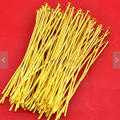 200PCS Gold Plated Head Pin Jewelry Findings 60mm 18 Gauge - Wholesale DIY Accessory Jewelry Making