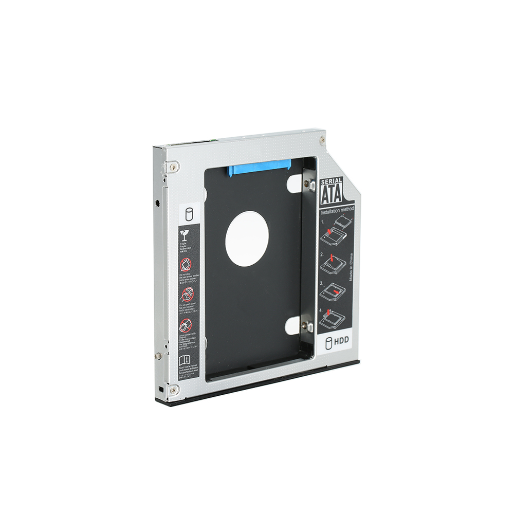 Hard Drive Caddy Tray SATA 2nd HDD SSD Caddy Case For 12.7mm Universal CD/DVD-ROM