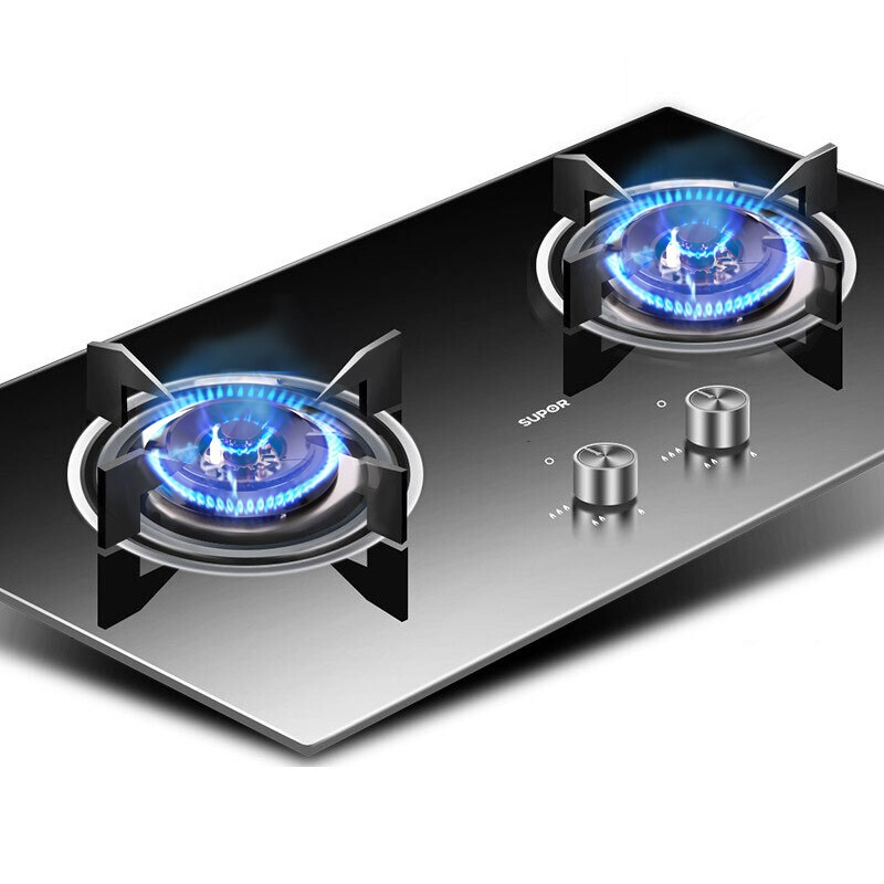 QB503 Gas Stove Natural Gas Liquefied Dual stove Bulit in Hobs Desk Type Embedded Dual purpose