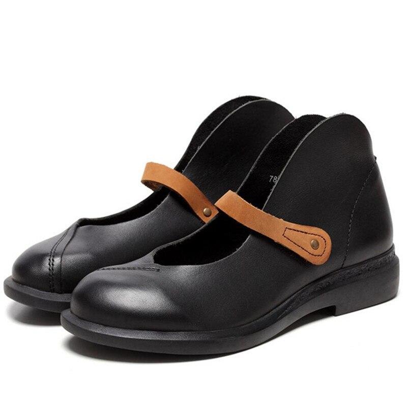 Casual 7888 Femme Nubuck Printemps 2017 En Véritable Élégant marron Noir Cuir Uni Whensinger Mode Bout Été Chaussures Femmes Rond 4gYxaqW