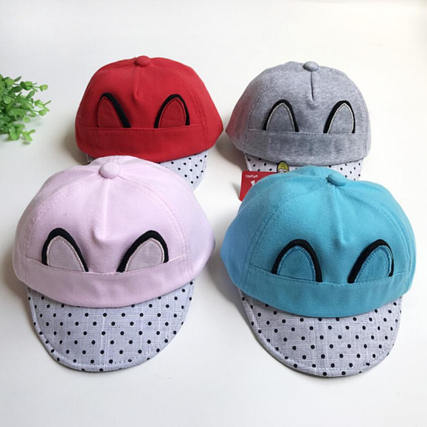 BMF TELOTUNY Fashion Wave Point Cat Ears Baby Caps Hats Boy Infant Sun Hat Sunscreen Baby Girl Hat Apr10 Drop Ship