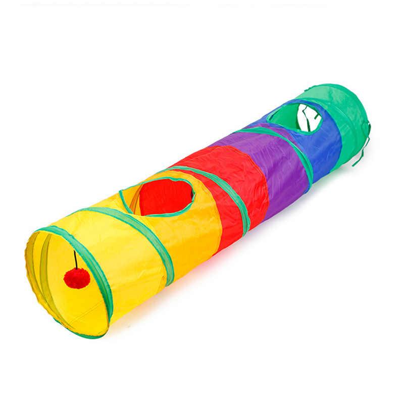 고양이 foldable 터널 드릴 배럴 다채로운 고양이 텐트 드릴 배럴 애완 동물 장난감