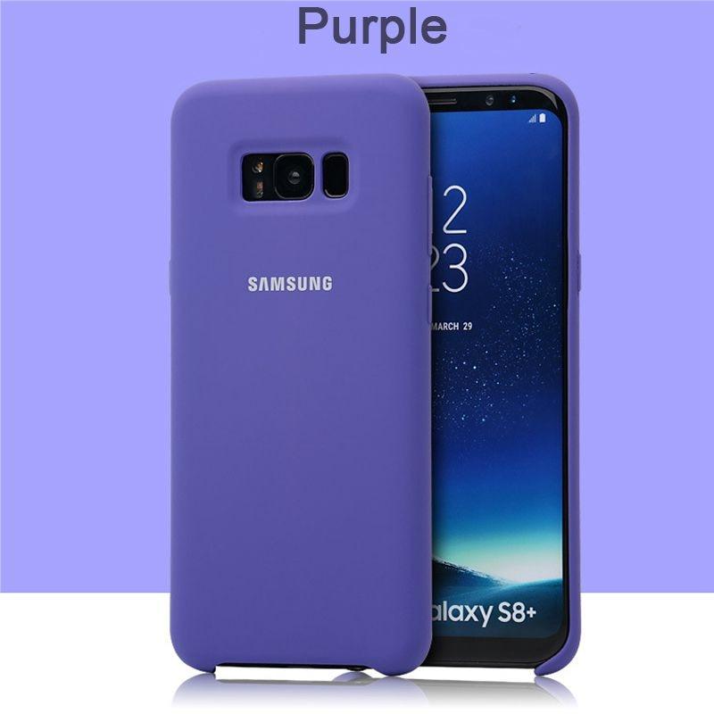 samsung Galaxy S8 S8 Plus силиконовый чехол 360 Защита противоударный G950 G955 чехол для телефона - Цвет: Purple