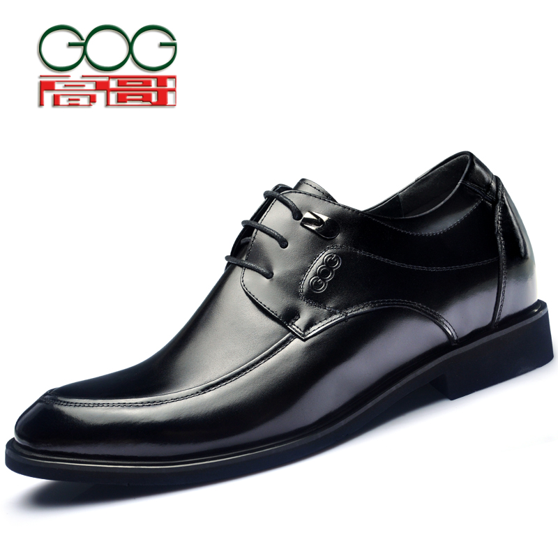 купить GOG increased in the spring and autumn period and the new dress shoes flats Men's increased within 6 cm shoes недорого