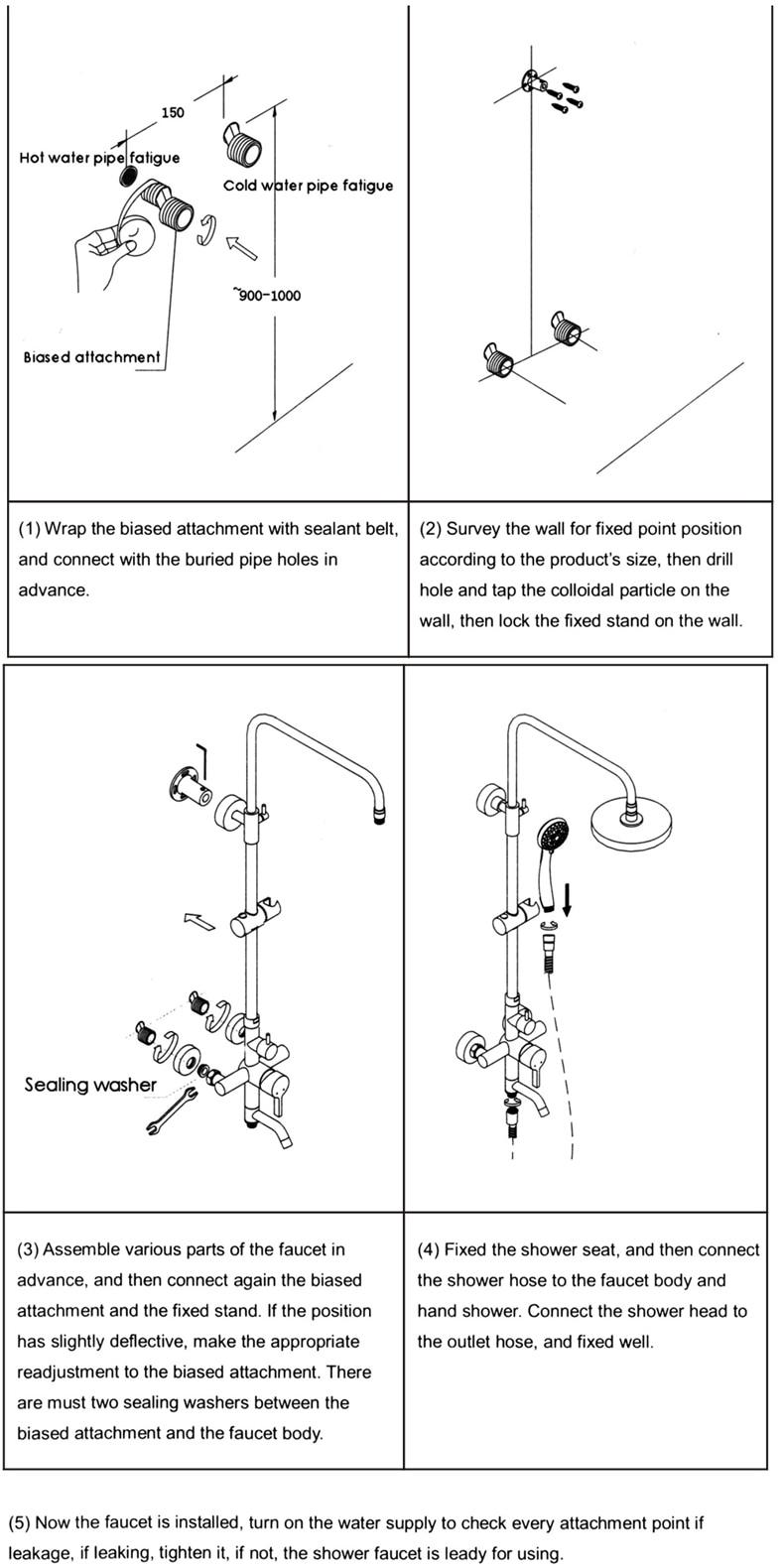 HTB1MycPQsfpK1RjSZFOq6y6nFXan Senducs Thermostatic Shower Set White Gold Bathroom Shower System Quality Brass Bathtub Faucet Newly Intelligent Gold Shower Set
