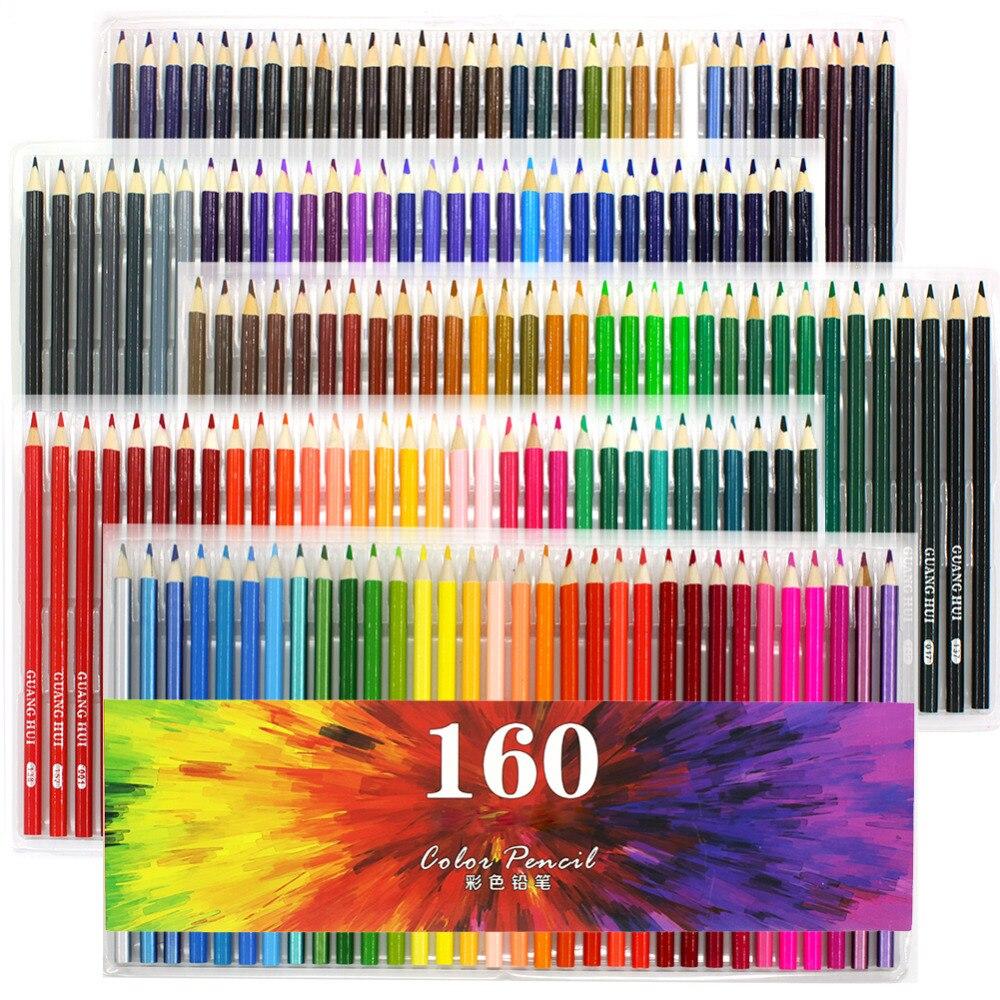 120/136/160 lápices de colores para adultos-lápices conjuntos para ...