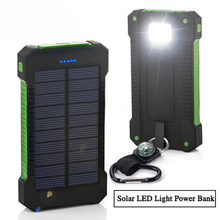 FLOVEME Solar Waterproof 8000mAh Power Bank 2 Ports With LED