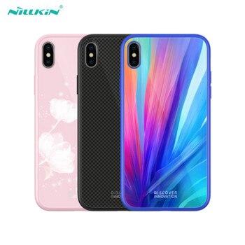 Étui pour iphone XS en verre trempé NILLKIN Max XR XS étui pour téléphone en Silicone étui pour iphone X 10 XS XR étui de luxe en TPU