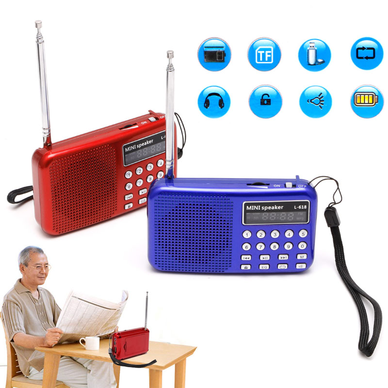 1Pc Mini LCD Digital Audio FM Radio Speaker USB Micro SD TF Card MP3 Music Player td v26 portable speaker mini fm radio receiver mp3 music player lcd soundbar micro sd tf music stereo loudspeaker for laptop