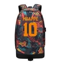 Mbapee Messi Neymar Ronaldo Canvas Anti Theft Backpack Men Women Large Capacity Travel Bag Boy Girl School Foot Ball Bagpack