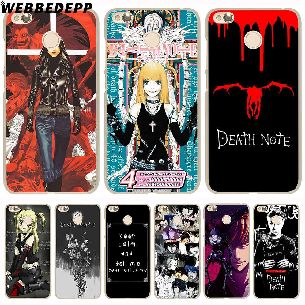 WEBBEDEPP Manga Death Note Cover Case for Xiaomi Mi6 5S 5X A1 Redmi 4X 4A 5A 5 Plus 4 3 Pro 3S Notr 4 3 Pro 2